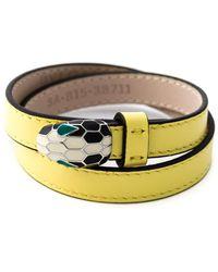 bvlgari double wrap snake bracelet lyst