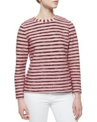 Tory Burch Long-Sleeve Terry Sweatshirt - Lyst