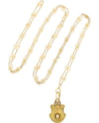 Olivia Collings - 1860S 18-Karat Gold Locket Necklace - Lyst