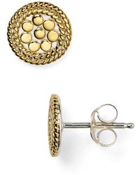 Anna Beck - Mini Circle Stud Earrings - Lyst