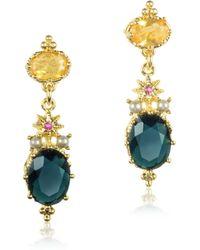 Les Nereides - Dazzling Discretion Faceted Glass Drop Earrings - Lyst