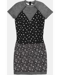 COACH   Drop Waist Dress   Lyst