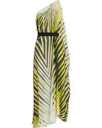 Roberto Cavalli Printed Silk Chiffon Maxi Dress - Lyst
