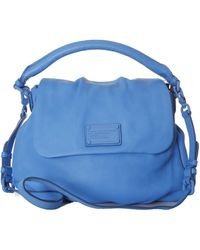 Marc Jacobs Marc-By-Marc-Jacobs-Lil-Ukita-Classic-Q-Leather-Bag blue - Lyst