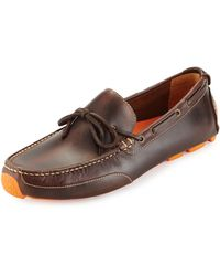 Cole Haan Motogrand Leather Camp-Moc Loafer - Lyst