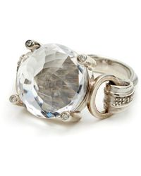 Anna Sheffield Eleonore Cocktail Ring - Crystal Quartz - Lyst