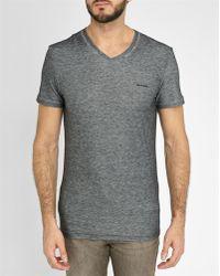 DIESEL | Black Michael Underdenim V-neck T-shirt | Lyst