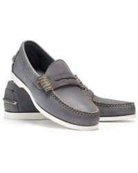 Ralph Lauren Faded Penny Loafer - Lyst
