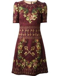Dolce & Gabbana Floral Brocade Dress - Lyst