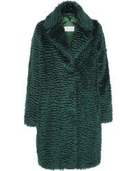 Maison Martin Margiela Faux Fur Mohair-blend Coat - Lyst
