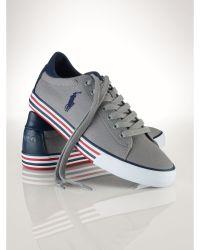 Polo Ralph Lauren Canvas Harvey Sneaker - Lyst