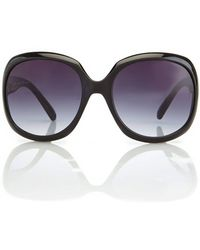 Juicy Couture Playful/S Black Xl Round Sunglasses - Lyst