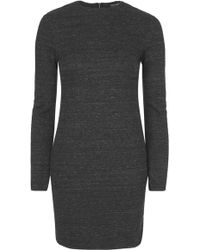 Topshop High Neck Rib Bodycon Dress - Lyst