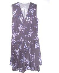 Rebecca Taylor Grapevine Print V Neck Dress - Lyst