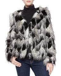 Trina Turk Priscilla Faux-Fur Jacket - Lyst