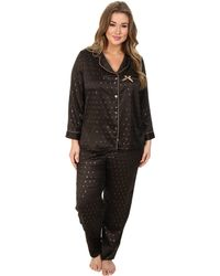 Betsey Johnson Plus Size Sexy Satin Pj Set - Lyst
