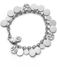 Tory Burch Logo Charm Bracelet - Lyst
