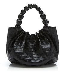 Nancy Gonzalez Black Matte Crocodile Top Handle - Lyst