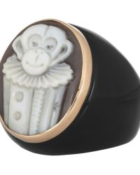 Amedeo Sardonyx Shell and Lapis Monkey Cameo Ring - Lyst