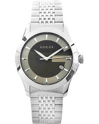 Gucci Men'S Timeless Brown Dial Stainless Steel - Lyst