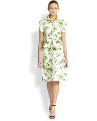 Carolina Herrera Sparrows Shirtdress - Lyst