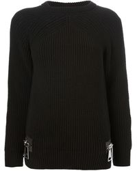 Christopher Kane Oversized Zipper Sweater - Lyst
