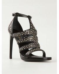 Saint Laurent Studded Sandals - Lyst