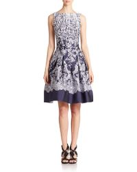 Oscar de la Renta Sleeveless Lace Jacquard Dress - Lyst