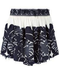 Chloé Fil Coupé Skirt blue - Lyst