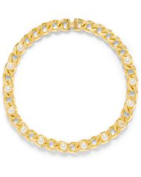 Tory Burch Winchel Pearl Chain Necklace - Lyst