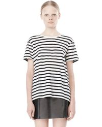 Alexander Wang Stripe Linen Cotton Tee - Lyst