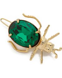Dauphines of New York - Bejeweled Barette - Emerald - Lyst