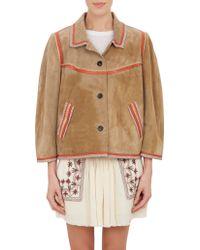 Etoile Isabel Marant Embellished Suede Bolton Jacket - Lyst