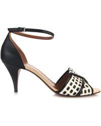 Sportmax - Molo Woven-Leather Sandals - Lyst
