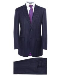 Jules B Striped Two Piece Suit - Lyst