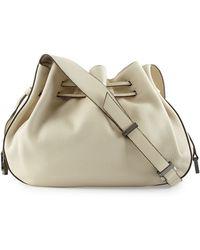 Halston Heritage | Pebbled-Leather Bucket Bag | Lyst