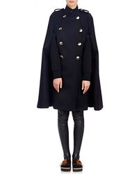 Sacai Luck - Melton Double-breasted Cape - Lyst