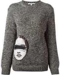 Carven Appliqué Patch Sweater - Lyst