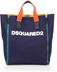 DSquared² Rubber Logo Tote - Lyst