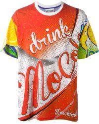 Moschino 'Drink ' T-Shirt - Lyst