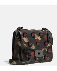 Coach Page Shoulder Bag in Jeweled Floral Print Leather - Lyst