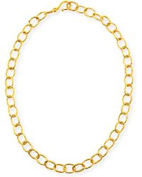 Dina Mackney - Hammered Oval-link Chain Necklace - Lyst