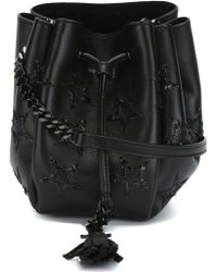 Saint Laurent - Mini Emmanuelle Leather Bucket Bag - Lyst