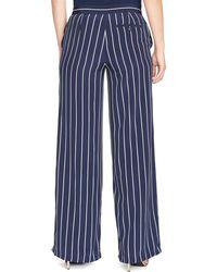 Ralph Lauren Lauren Plus Stripe Wide Leg Pants - Lyst