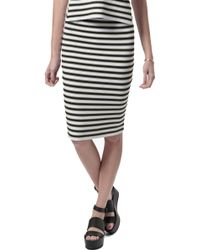 A.L.C. Marilyn Striped Pencil Skirt - Lyst