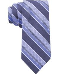 Calvin Klein Steel Oxford Denim Stripe Skinny Tie - Lyst