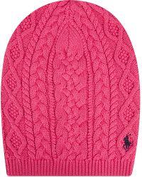Ralph Lauren Aran Cable Knit Slouchy Hat - Lyst
