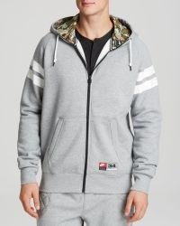 Nike Striped Hooded Sweatshirt - Lyst