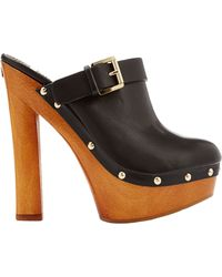 DSquared² Leather Clogs - Lyst