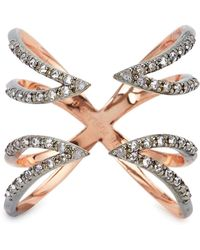 Katie Rowland Twisted Cross Ring